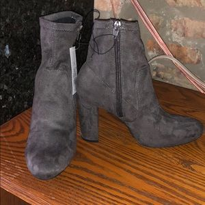 A New Day: Faux Suede Grey Booties